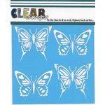 Clear Scraps - Mascils - 6 x 6 Masking Stencil - Swallowtail Butterfly