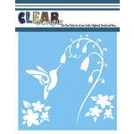 Clear Scraps - Mascils - 12 x 12 Masking Stencil - Swirl Humming Bird