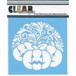 Clear Scraps - Mascils - 12 x 12 Masking Stencil - Swirl Pumpkin