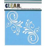 Clear Scraps - Mascils - 12 x 12 Masking Stencil - Swirl Flourish