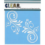 Clear Scraps - Mascils - 6 x 6 Masking Stencil - Swirl Flourish