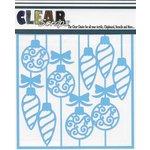 Clear Scraps - Mascils - Christmas - 6 x 6 Masking Stencil - Swirl X-mas Bulbs
