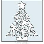 Clear Scraps - Mascils - 12 x 12 Masking Stencil - Swirl Christmas Tree