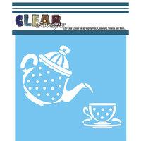 Clear Scraps - Mascils - 12 x 12 - Masking Stencil - Tea Time