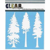 Clear Scraps - Christmas - Mascils - 6 x 6 Masking Stencil - Tree Pines