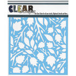 Clear Scraps - Mascils - 6 x 6 Masking Stencil - Twig Leaves