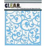 Clear Scraps - Mascils - 6 x 6 Masking Stencil - Twinkle Star Flourishes