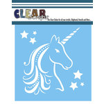 Clear Scraps - Mascils - 12 x 12 Masking Stencil - Unicorn