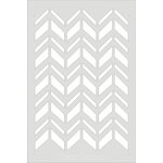 Clear Scraps - Wall Stencil - 18 x 24 - Chevron