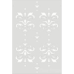Clear Scraps - Wall Stencil - 18 x 24 - Damask