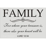 Clear Scraps - Wall Stencil - 24 x 36 - Family - Luke 1234