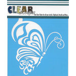 Clear Scraps - Mascils - 6 x 6 Masking Stencil - Whimsical Butterfly