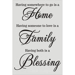 Clear Scraps - Wall Stencil - 24 x 36 - Home, Family, Blessings