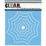 Clear Scraps - Halloween - Mascils - 6 x 6 Masking Stencil - Widow Spider Web