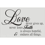 Clear Scraps - Wall Stencil - 18 x 24 - Love Endures