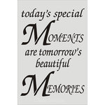 Clear Scraps - Wall Stencil - 18 x 24 - Moments