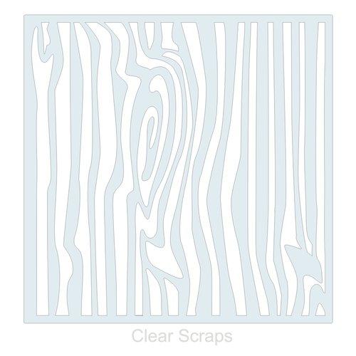 Clear Scraps - Mascils - 12 x 12 Masking Stencil - Wood Grain