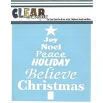 Clear Scraps - Mascils - Christmas - 12 x 12 Masking Stencil - Word Xmas Tree