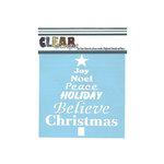 Clear Scraps - Mascils - Christmas - 6 x 6 Masking Stencil - Word Xmas Tree
