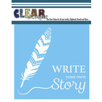 Clear Scraps - Mascils - 6 x 6 Masking Stencil - Write Your Story