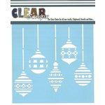 Clear Scraps - Mascils - Christmas - 12 x 12 Masking Stencil - Xmas Bulbs