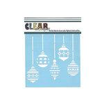 Clear Scraps - Mascils - Christmas - 6 x 6 Masking Stencil - Xmas Bulbs