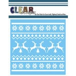 Clear Scraps - Mascils - Christmas - 12 x 12 Masking Stencil - Xmas Sweater Pattern
