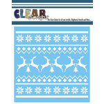 Clear Scraps - Mascils - Christmas - 6 x 6 Masking Stencil - Xmas Sweater Pattern