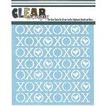 Clear Scraps - Mascils - 12 x 12 Masking Stencil - XOXOX