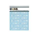 Clear Scraps - Mascils - 6 x 6 Masking Stencil - XOXOX