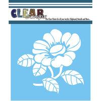 Clear Scraps - Mascils - 12 x 12 - Masking Stencil - Zinnia