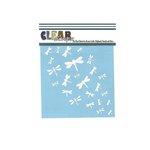 Clear Scraps - Mascils - 6 x 6 Masking Stencil - Dragonfly Wall