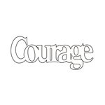 Clear Scraps - Expressions - Clear Titles - Small - Courage