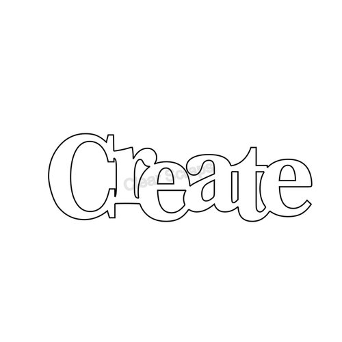 Clear Scraps - Expressions - Clear Titles - Small - Create
