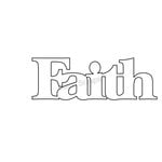 Clear Scraps - Expressions - Clear Titles - Small - Faith