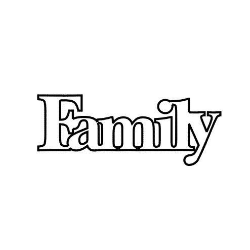 Clear Scraps - Expressions - Clear Titles - Small - Family