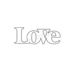 Clear Scraps - Expressions - Clear Titles - Small - Love