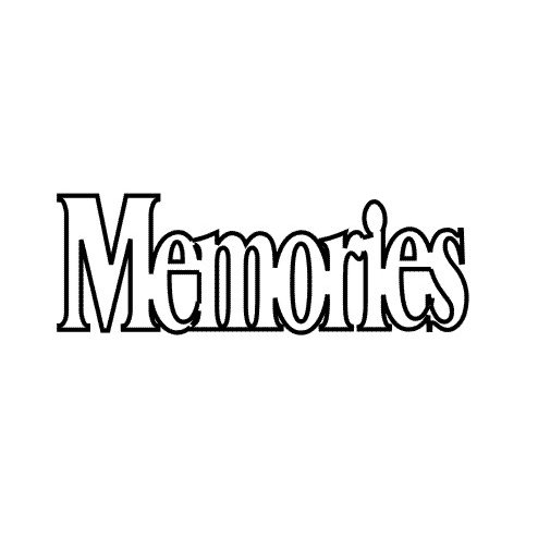 Clear Scraps - Expressions - Clear Titles - Small - Memories