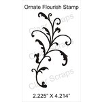 Clear Scraps - Cling Mounted Rubber Stamp - Ornate Flourish