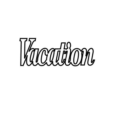 Clear Scraps - Expressions - Clear Titles - Small - Vacation