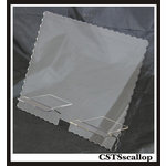 Clear Scraps - Acrylic Tablet Stand - Scallop