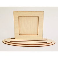 Clear Scraps - 3D Frameables Collection - Birch Base - Square Frame