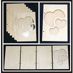 Clear Scraps - Accordion Shaker Album - Heart