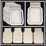 Clear Scraps - Accordion Shaker Album - Mason Jar