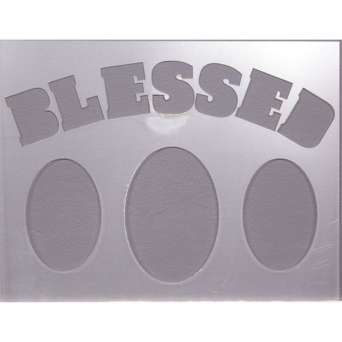 Clear Scraps - 14 x 18 Word Board - Blessed
