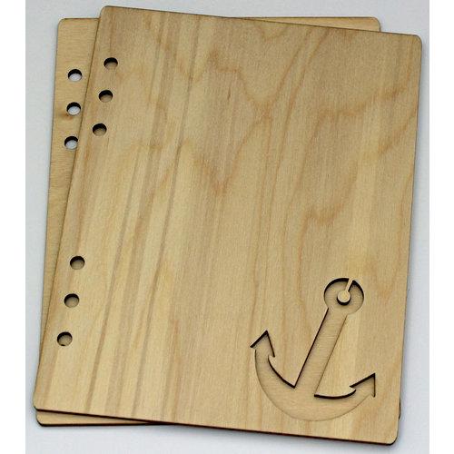 Clear Scraps - Birch Wood Laser Cut Album Covers - 6 x 8 - Anchor