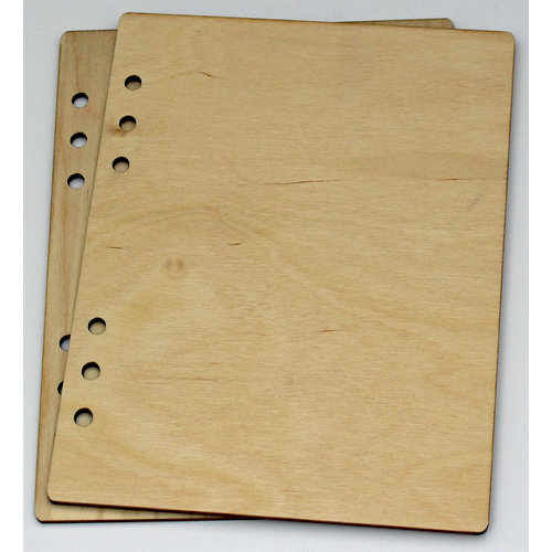 Clear Scraps - Birch Wood Laser Cut Album Covers - 6 x 8 - Blank