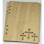Clear Scraps - Birch Wood Laser Cut Album Covers - 6 x 8 - Crosses