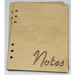 Clear Scraps - Birch Wood Laser Cut Album Covers - 6 x 8 - Notes