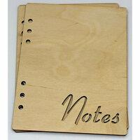 Clear Scraps - Birch Wood Laser Cut Album Covers - 6 x 8 - Notes